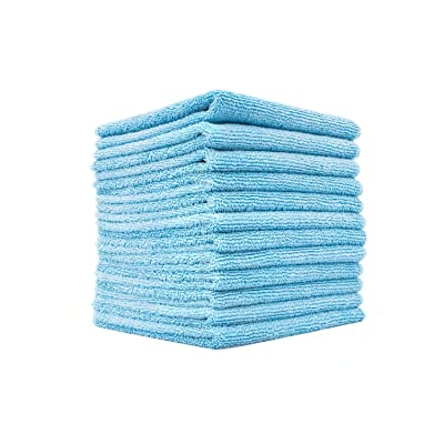The Rag Company (12 Pack) Premium 12 x 12 Microfiber Terry Towel, Light Blue: Health & Personal Care