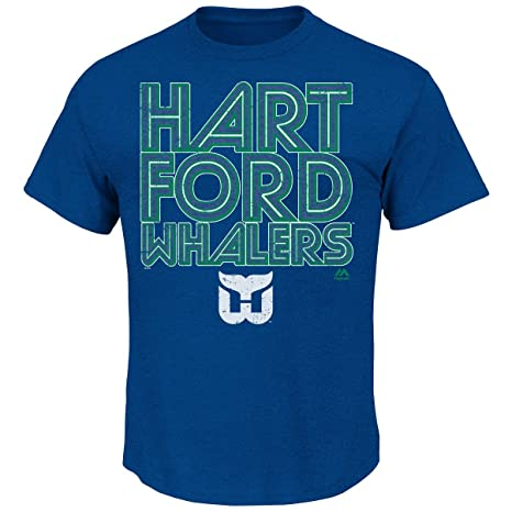 Majestic Hartford Whalers Blue Sudden Death Vintage Heathered T-Shirt (2X) c0dc48f8d