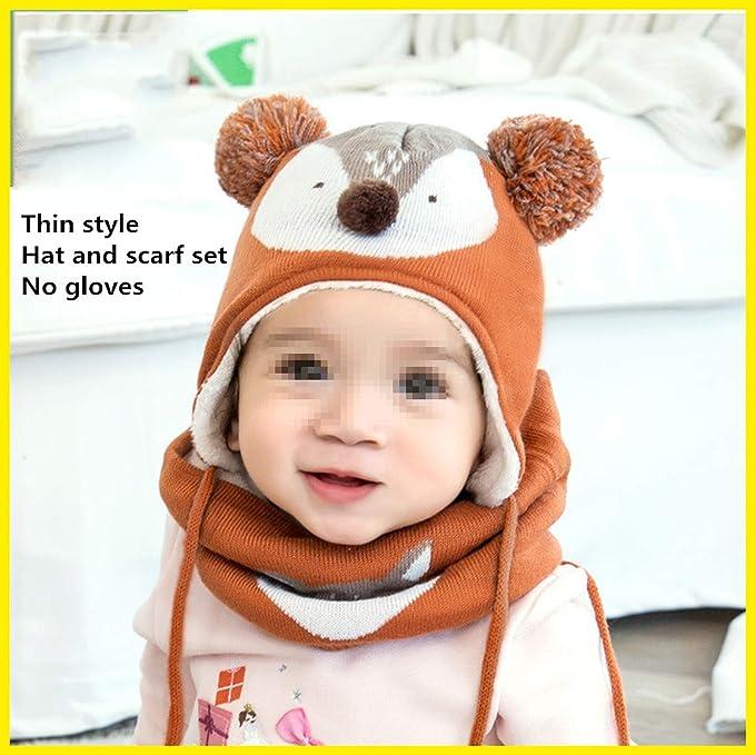 3d7f121431d Nutsima 2Pcs Lot Baby Winter Hat   Scarf Baby Winter Cap Children Warm Scarf  for