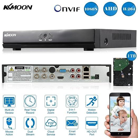 92 opinioni per KKMOON 4CH Full 1080N/720P AHD DVR HVR NVR HDMI P2P Nube Onvif Rete Video