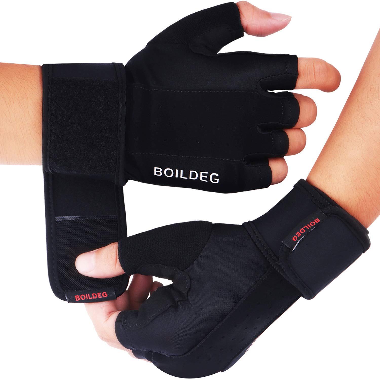 Guantes de levantamiento de pesas para gimnasia, protección completa para la palma y agarre extra