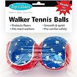 Top Glides Precut Walker Tennis Ball Glides (Patriotic)