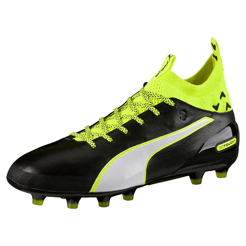 Puma EVOTOUCH 3 AG - Football boots - black/white/safety yellow Men Football Bootspuma soccerpuma italy fashionable design