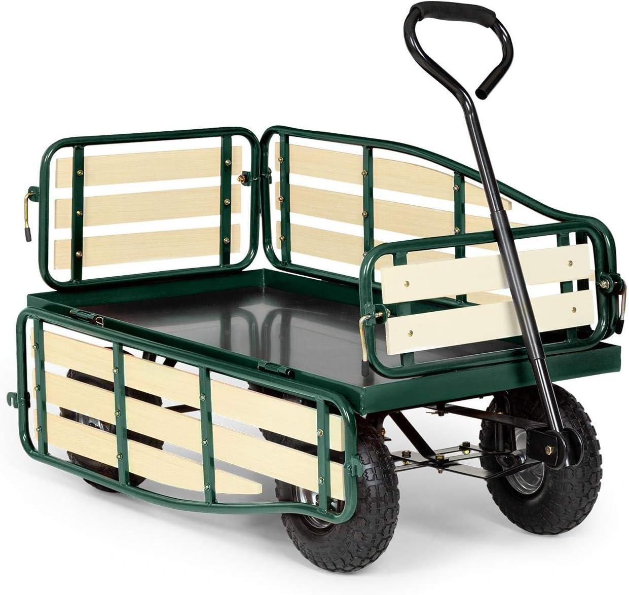 Jardin voiture armoire Chariot à tirer chariot chariot de transport jardin brouette CHARETTE