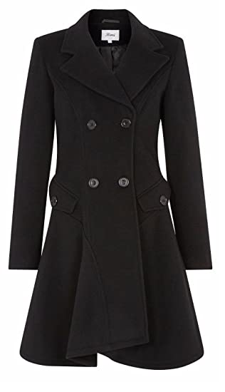 8e30fb50ee9 De LA Creme - Women s Wool   Cashmere Jacket Ladies Winter Double Breasted  Flare Coat Made