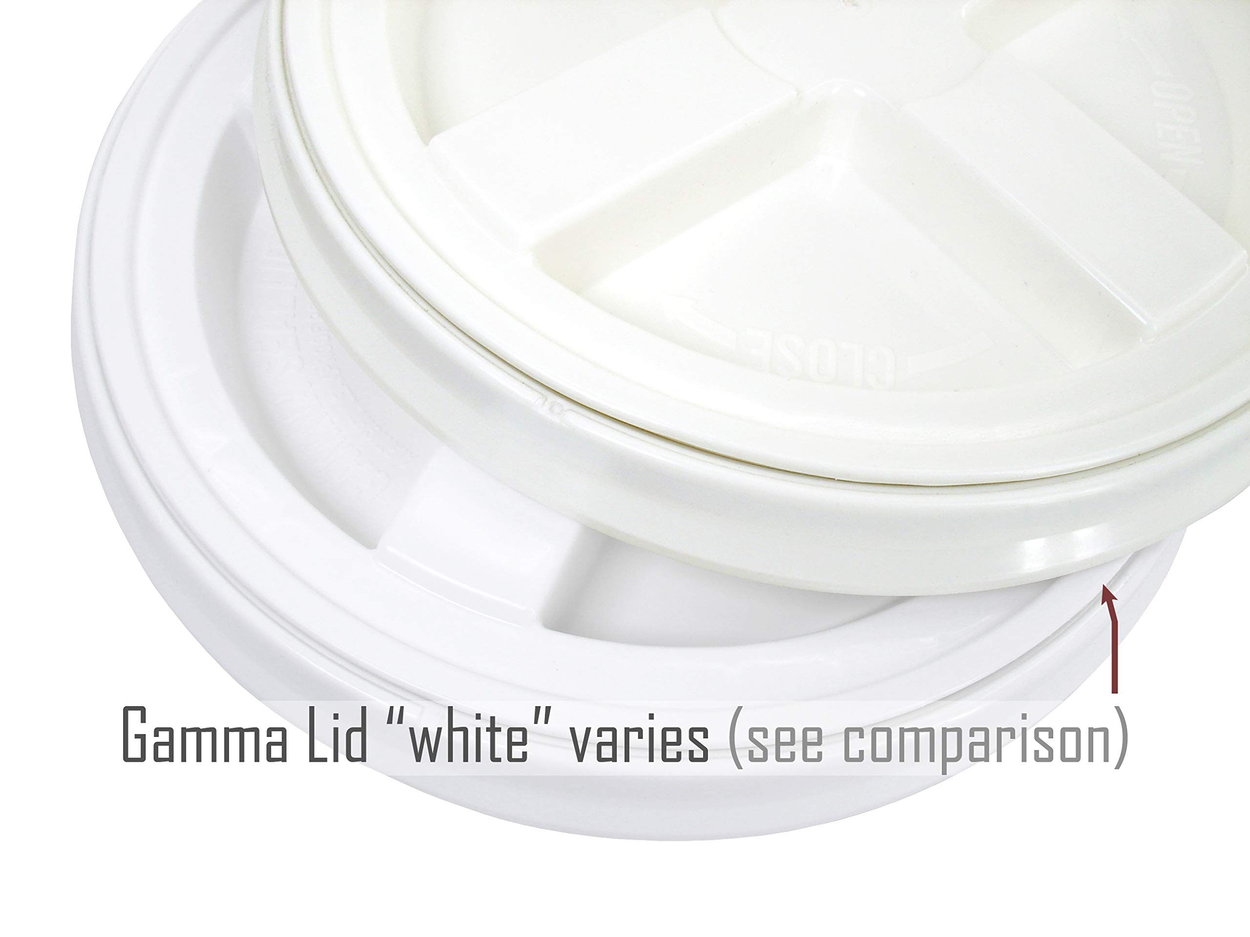 White 2 Gallon Bucket with Gamma Seal Lid (20) by API Kirk (Image #3)