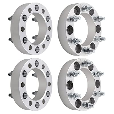 "DCVAMOUS 4pc 6 Lug 6x5.5 Wheel Spacers Adapters 1.5"" with 14x1.5 Studs for 1999-2020 Chevy Silverado 1500, 1995-2020 Tahoe, Suburban, Express 1500 Trucks: Automotive"