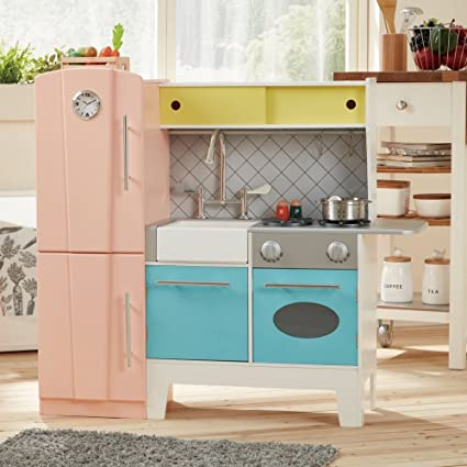 Teamson Design Kids Playful Bubble Gum Wooden Play Kitchen