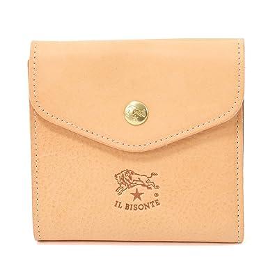 78affb266c71 Amazon | ILBISONTE イルビゾンテ C0424 P レザー 二つ折り ミディアム財布 スモール財布 5色 120/NATURALE /  [並行輸入品] | レディースバッグ・財布