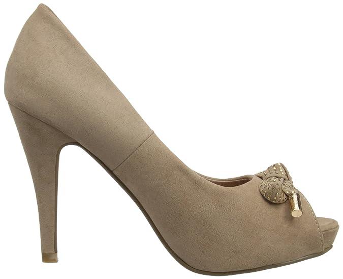 XTI Womens Peep-Toe 29401 Taupe 4 UK, 37 EU, 6.5 US: Amazon.co.uk: Shoes &  Bags