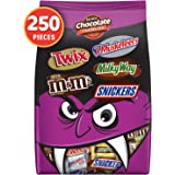 SNICKERS, TWIX, MILKY WAY, 3 MUSKETEERS & Milk Chocolate M&M'S Halloween Candy Bars Variety Mix 96.2-Ounce 250 Count…