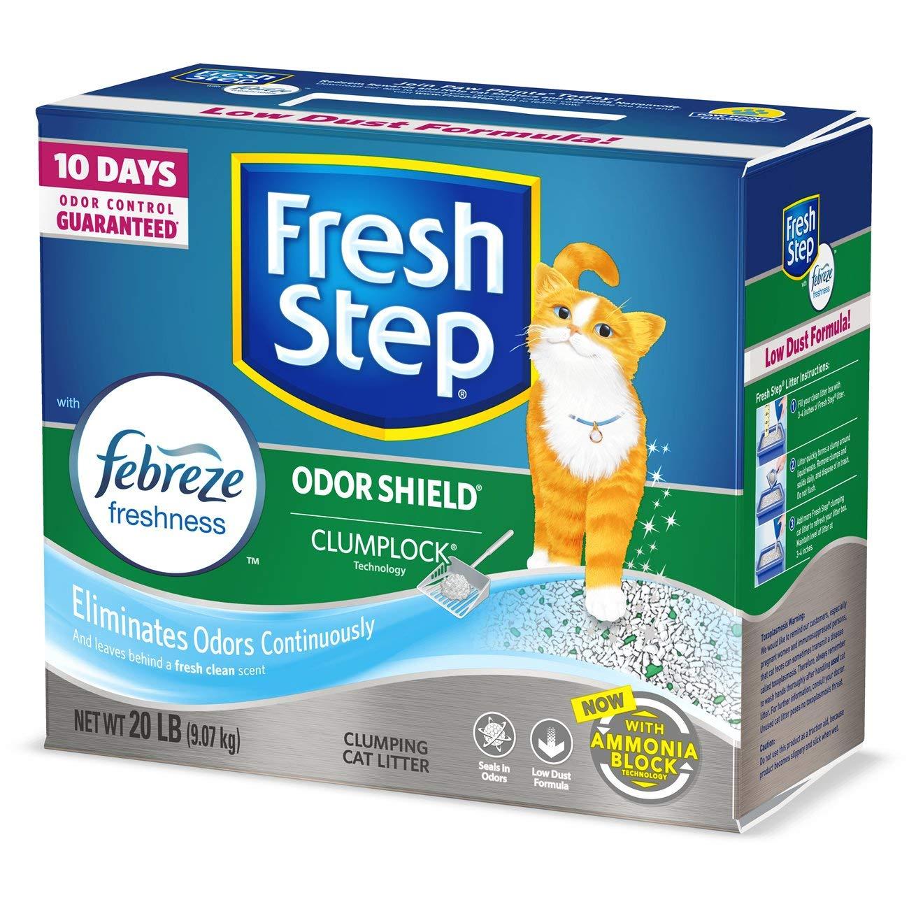 Fresh Step The Power Febreze, Clumping Cat Litter 20 Pounds 30393