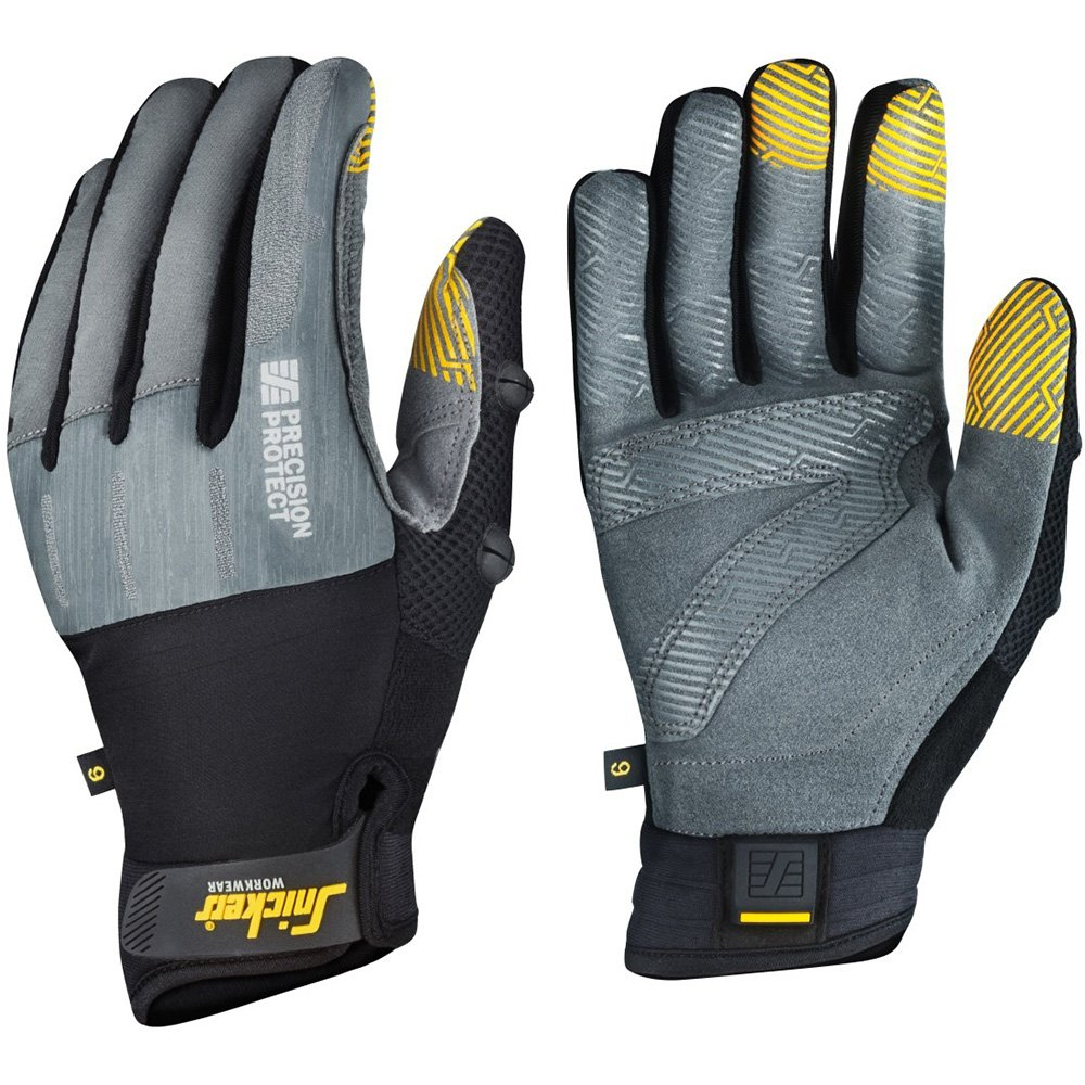 Snickers 95744804009 Precision Protect Gloves Size 9 in Grey/Black