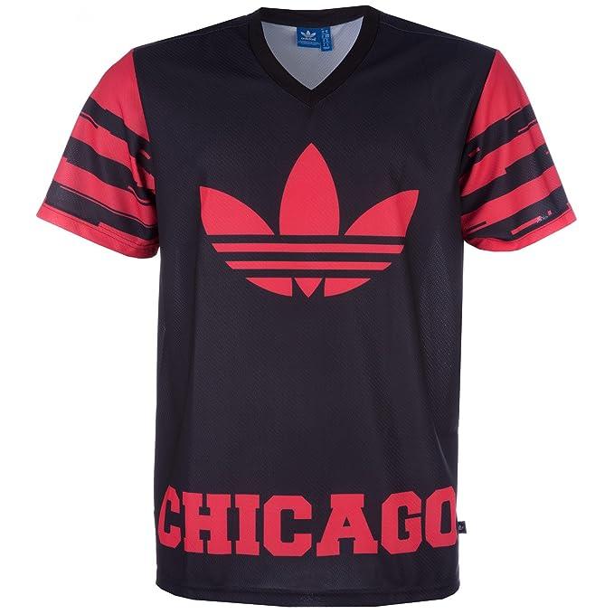 Camiseta adidas – Nba Chicago Bulls Oversized Negro/Rojo Xs