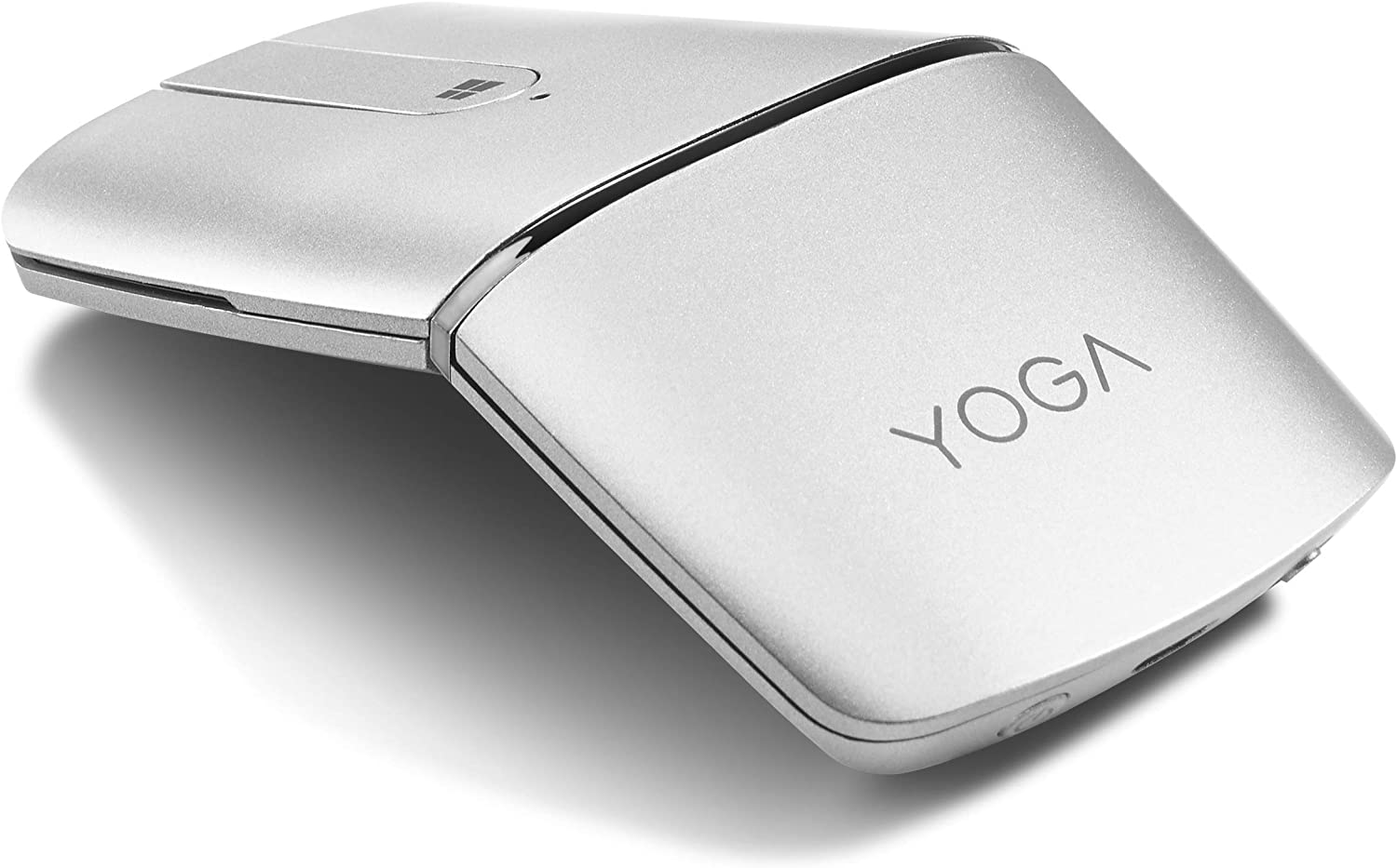 Lenovo Yoga Mouse, Silver, Ultra Slim 13.5mm, 180 Degree rotatable Hinge, 2.4G or Bluetooth 4.0 Wireless Connection, Multilayer Adaptive touchpad, Rechargeable Battery, GX30K69568