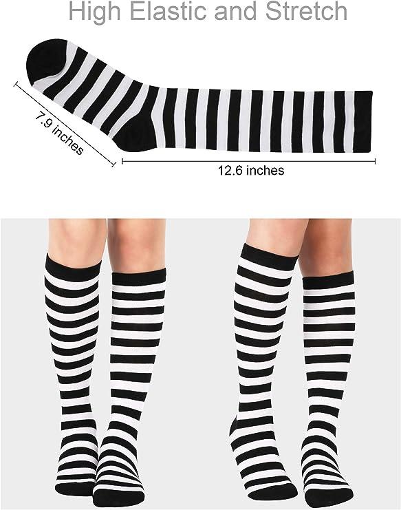 Best For Medical Boat And Moon Long Socks For Women Womens Knee High Socks 2 Pairs
