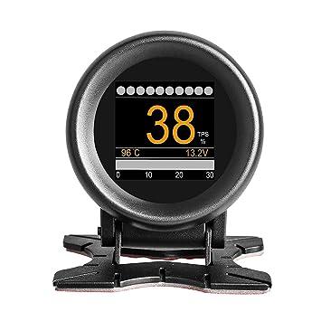 AUTOOL X60 Coche OBD2 Velocímetro Digital Multifunción, medidor de temperatura de agua y aceite,
