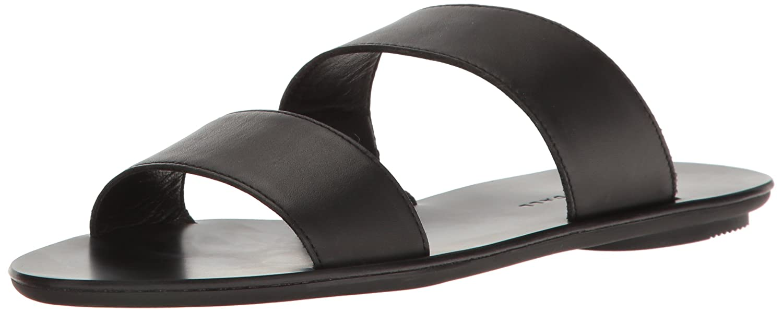 Loeffler Randall Women's Clem Flat Sandal B01N8YCELX 7 B(M) US|Black