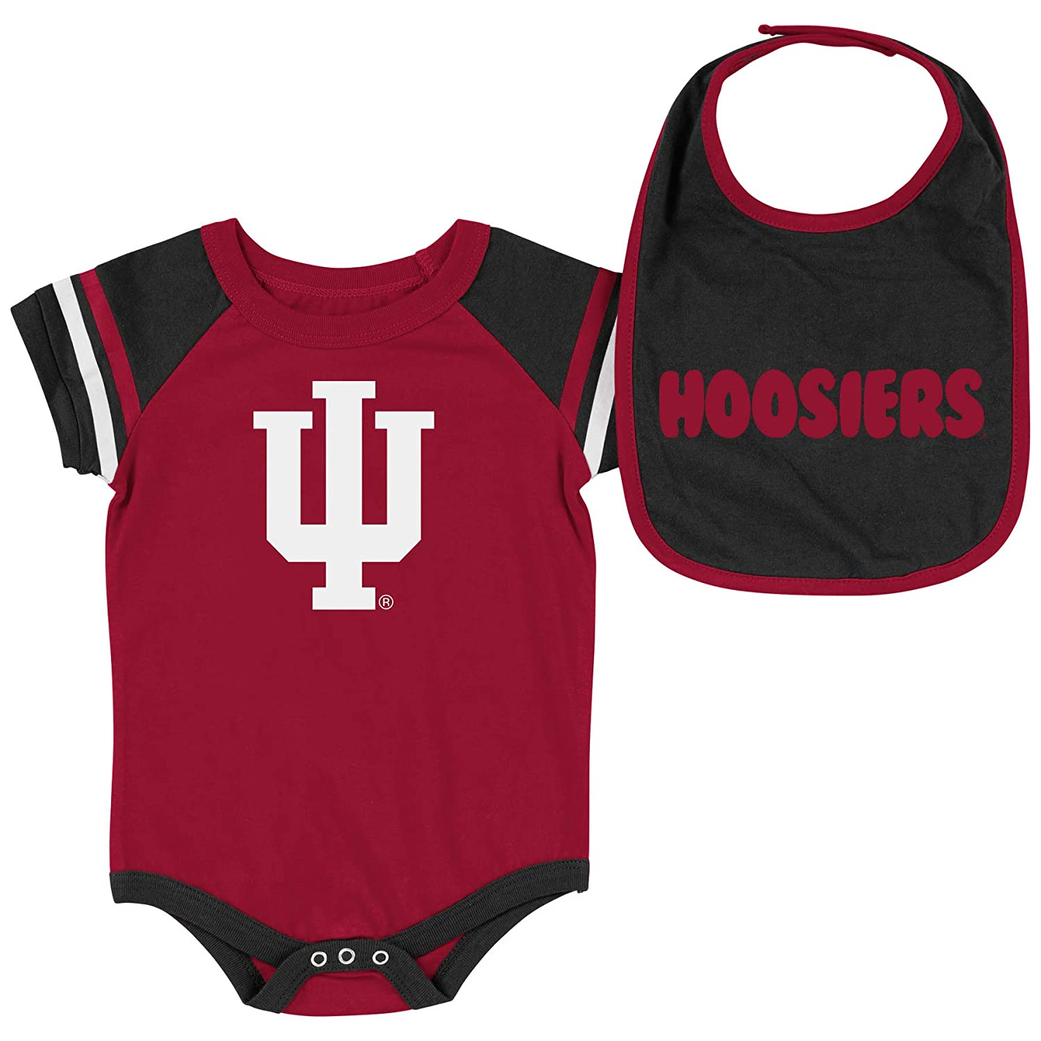 Colosseum NCAA-Roll Out Baby Short Sleeve Bodysuit and Matching Bib 2-Pack Set-Newborn and Infant Sizes