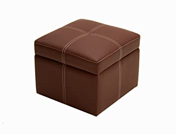 Amazoncom Delaney Small Square Storage Ottoman Brown Kitchen