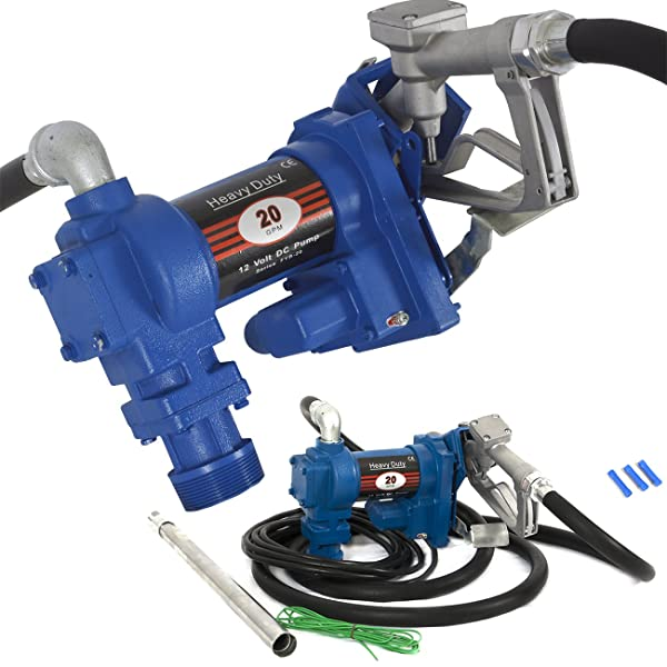 ARKSEN Fuel Transfer Pump 12 Volt 20 GPM Diesel Gas Gasoline Kerosene Car Tractor Truck