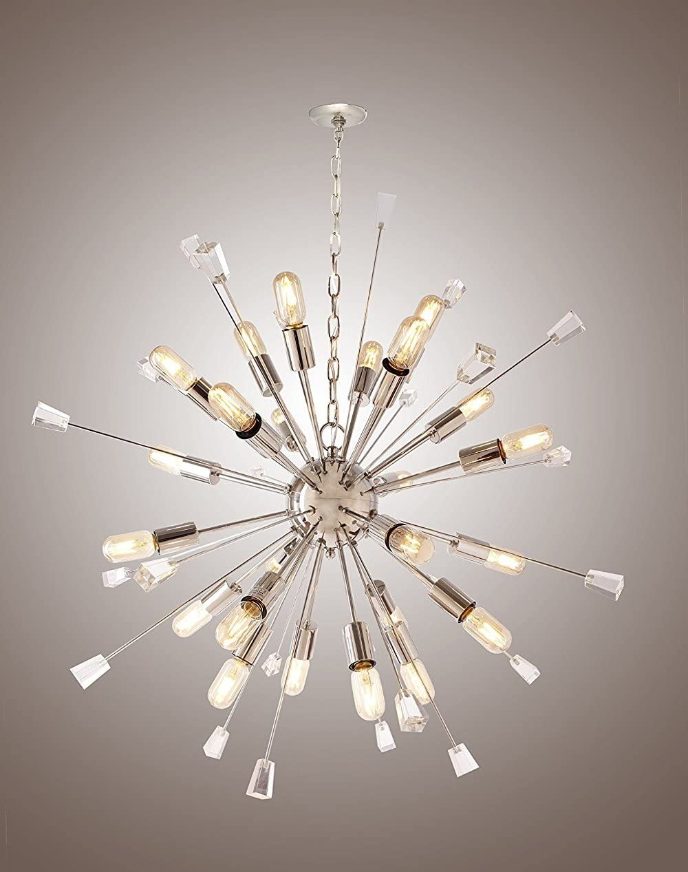 Decomust 40 Large Mid Century Modern Sputnik Light Fixture Italian Starburst Chandelier