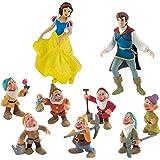 Figuritas de Blancanieves, el príncipe y los 7 enanitos de Disney de Bullyland, 9 figuras, ideal para decorar tartas