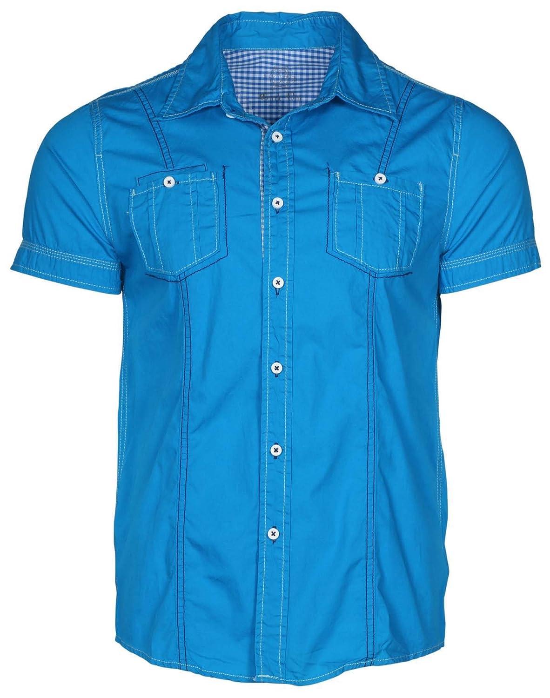 Circle One Mens Short Sleeve Casual Button Down Shirt