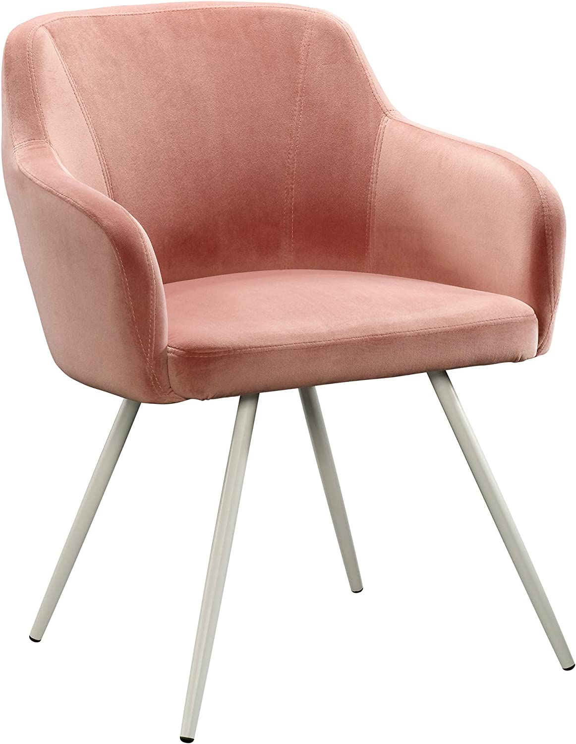 """Sauder Anda Norr Occasional Chair, L: 24.41"""" x W: 24.41"""" x H: 30.51"""", Salmon Pink"""