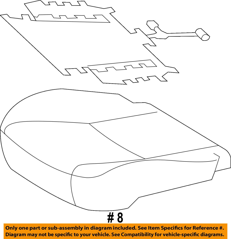 TOYOTA Genuine 71072-35420-C2 Seat Cushion Cover