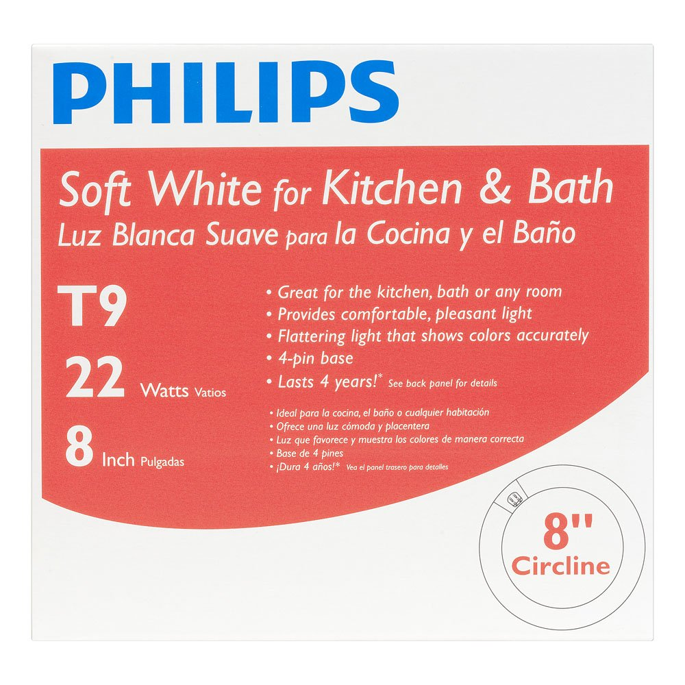 Philips 392225 Circline Fluorescent 22-Watt 8-Inch T9 Soft White Light Bulb