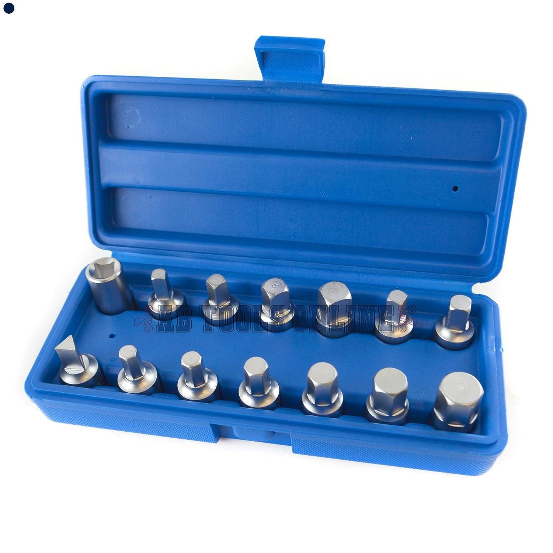 Tappo di scarico coppa Set chiave cambio dell'olio da 3/8' 14pc assale cambio riparazione del motore AB Tools