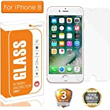 OpenTech® Tempered Glass Screen Protector for Apple iPhone 8 with Installation kit (2.5 D and Full Transparent)