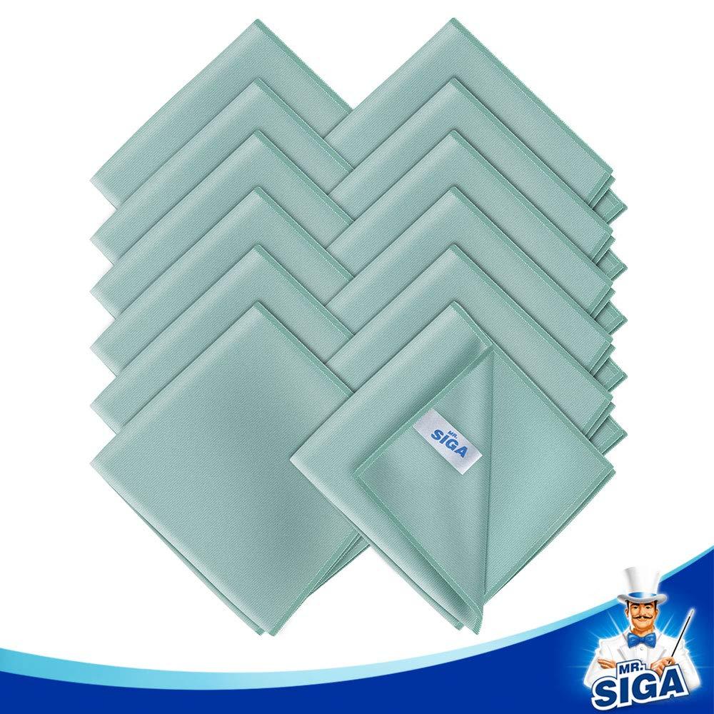 MR.SIGA 6 Unidades 35 x 40 cm Pa/ños de Microfibra Ultra Finos para Cristal