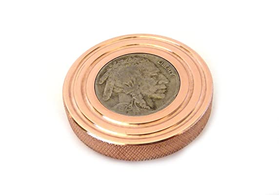 THE FLATTOP - COPPER BUFFALO HANDMADE EDC SPINNING TOP - MADE IN THE USA