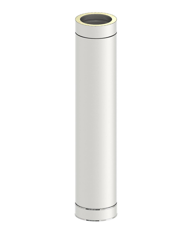 Schornstein - Längenelement DW doppelwandig, 1000mm Länge und 250mm Durchmesser, Innen Außen je 0,5 mm Wandstärke, Edelstahl