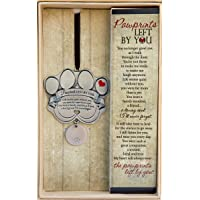 "Pet Memorial Ornament - 3"" Metal Casted Paw Print Design Ornament - Beautiful…"