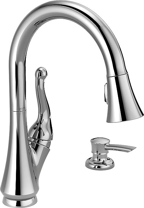 Delta Faucet 16968-SD-DST Talbott, Single Handle Pull-Down Kitchen ...