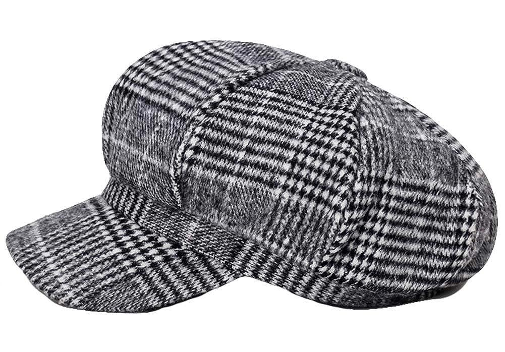 36ba43987f53d Roffatide Unisexo Gorras Gatsby Boinas de 8 Piezas Casquillo Plano  Herringbone Hat Gris Oscuro  Amazon.es  Ropa y accesorios