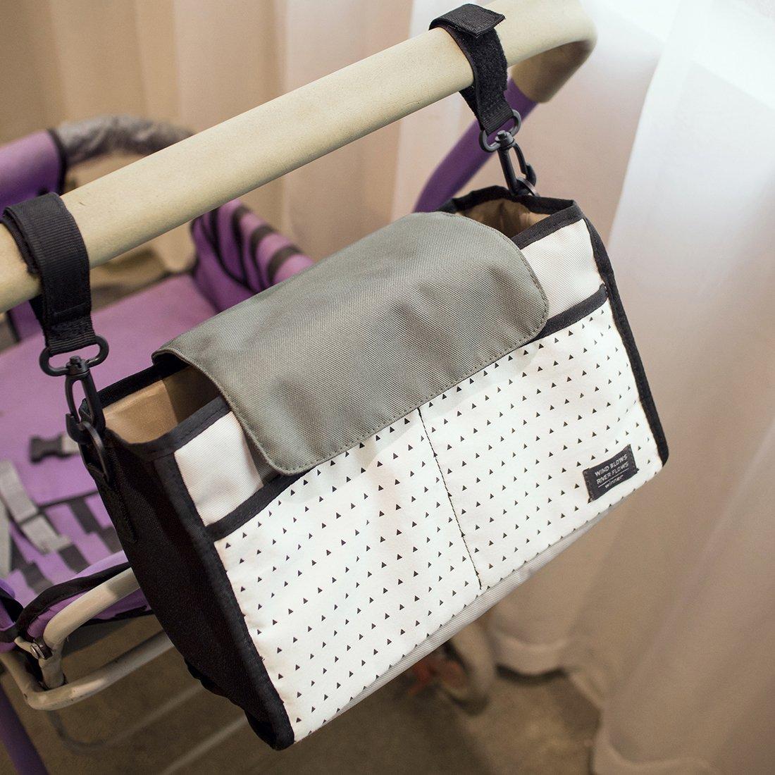 isuperb Stroller Organizador cochecito bolsillos bolso cambiador resistente al agua bolso cambiador Diaper Bag Blaue Streifen