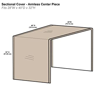 Awesome Protective Covers Inc Modular Sectional Sofa Cover Armless Center Piece 28W X 40D X 32H Tan 1258 Tn Ibusinesslaw Wood Chair Design Ideas Ibusinesslaworg