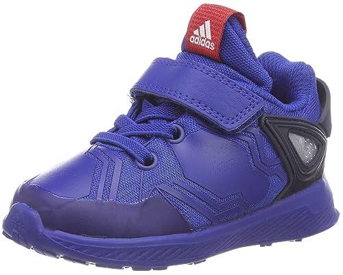 finest selection c0a74 1c984 adidas RapidaRun Spider-Man El I, Pantofole Unisex-Bimbi, Blu (Reauni