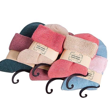 Calcetines secador de conejo y algodón, vandot mujer calcetines Vintage suave cálido para primavera otoño