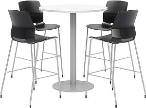 Olio Designs Dining Room Furniture, Designer White Table, Black Stools