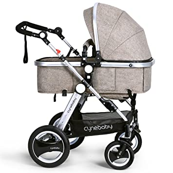 be0569063 Amazon.com   Infant Toddler Baby Stroller Carriage - Cynebaby Compact Pram  Strollers add Tray (Khaki)   Baby