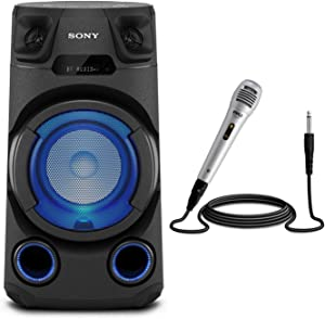 Sony MHC-V13 High Power Audio System with Handheld Microphone Bundle (2 Items)
