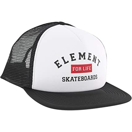 2a23e3878cc Image Unavailable. Image not available for. Color  Element Skateboards Rift  White Black Mesh Trucker Hat ...
