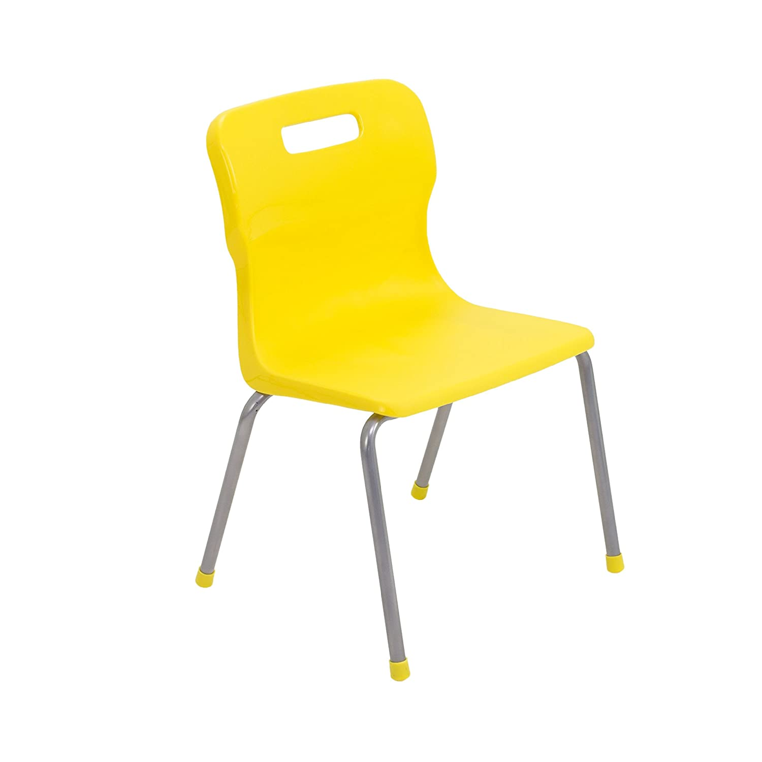 Titan 4 Leg Classroom Chair - Size 3, Ages 5-7 Years, Plastic, Yellow T13-Y