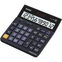 CASIO DH-12TER Tischrechner blau, 12-stelliges Display, Steuer-Berechnung, Euro-Umrechnung, Rundungsoption, Quadratwurzel