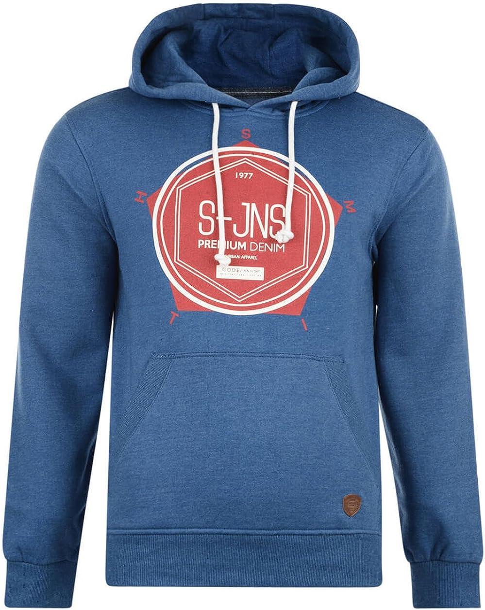 Smith /& Jones Men's New Overhead /& Zip Up Hooded Tops Sweatshirt Fleece Hoodies